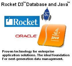 Rocket D3 Database and Java. Proven technology for enterprise application solutions. The ideal foundation for next-generation data management.